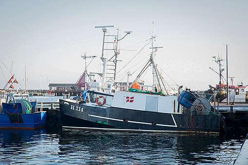 Vessel H214 at Gilleleje Harbor in Denmark.