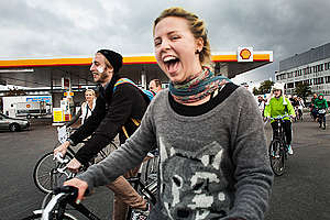 Save the Arctic Ice Ride in Copenhagen. © Lars Bertelsen