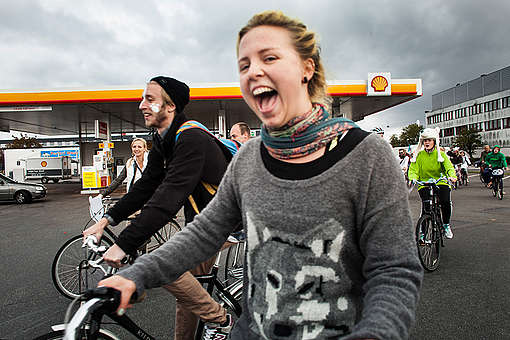 Save the Arctic Ice Ride in Copenhagen. © Lars Bertelsen