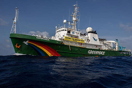 Esperanza during Amazon Reef Expedition in Brazil. © Marizilda Cruppe