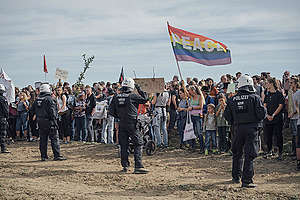 Background Images of Protests in Hambach Forest. © Kevin McElvaney