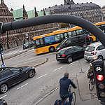 Cyclists on Street in Copenhagen. © Chris Grodotzki