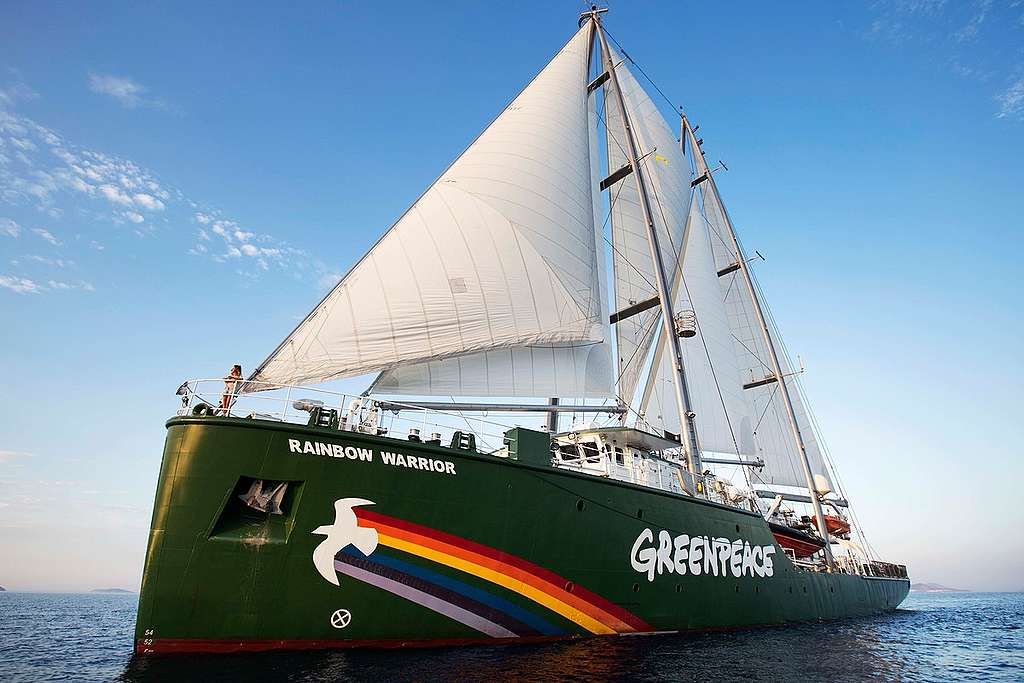 Rainbow Warrior in Seferihisar. © Caner Ozkan