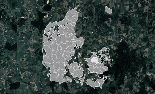 Kort over svinefabrikker i Danmark