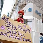 """""""Buy Nothing Day"""" Street Performance in Hong Kong. © Patrick Cho / Greenpeace"""