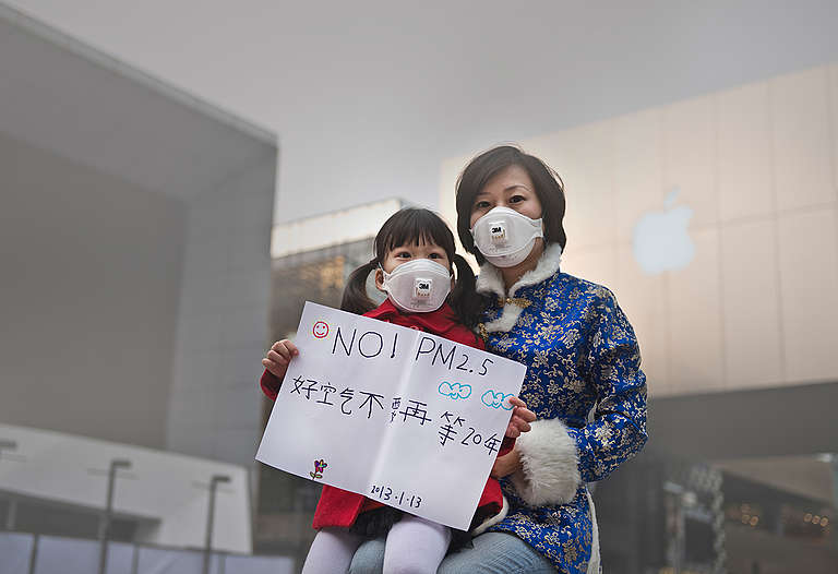 Air Pollution in Beijing. © Greenpeace / Wu Di