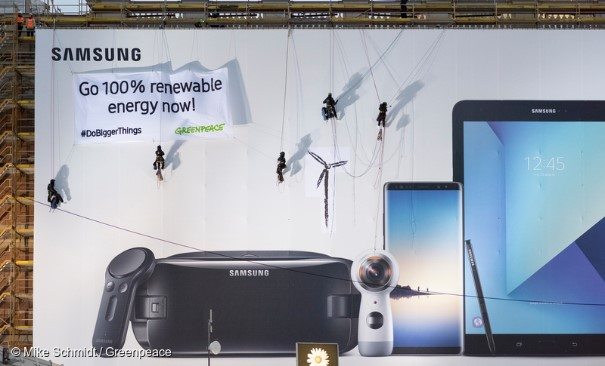 You did it! Samsung chooses renewable energy!