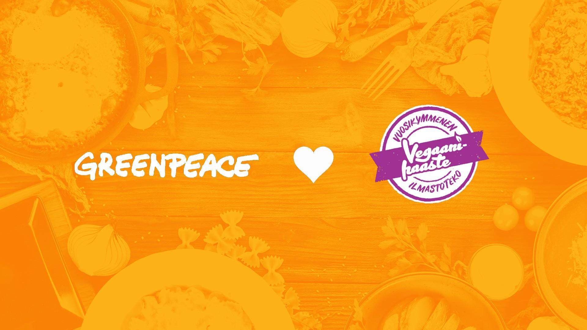 Greenpeace yhteistyössä Vegaanihaasteen kanssa 2020