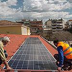 Solar System Installation in Larissa, Greece. © Constantinos Stathias