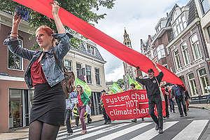 Eemshaven Coal Plant Protest in Groningen. © Joris van Gennip