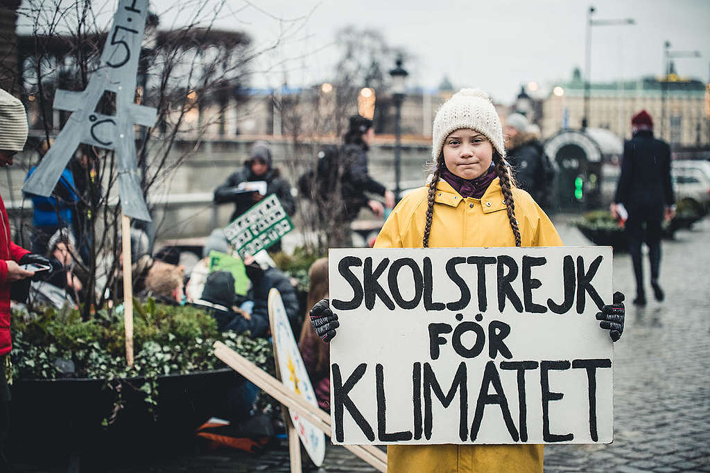 """Fridays for Future"" Climate Demonstration in Stockholm. © Jana Eriksson / Greenpeace"