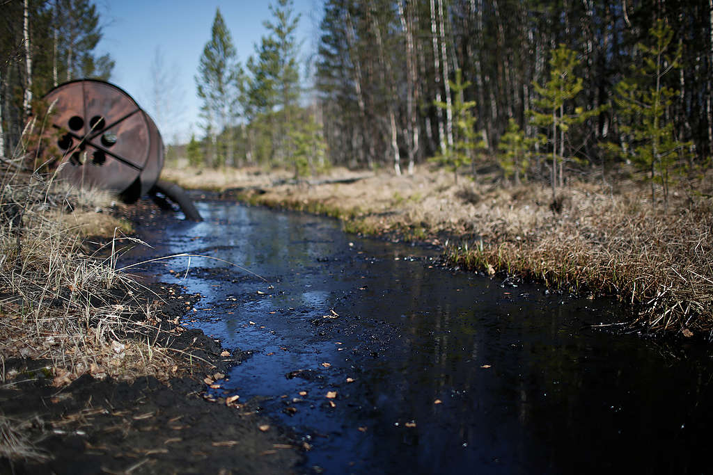 Rosneft Oil Spill in Russia. © Denis Sinyakov / Greenpeace