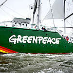 Rainbow Warrior III Sea Trials. © Oliver Tjaden / Greenpeace