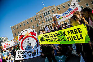 Act for the Climate March in Athens. © Constantinos Stathias / Greenpeace