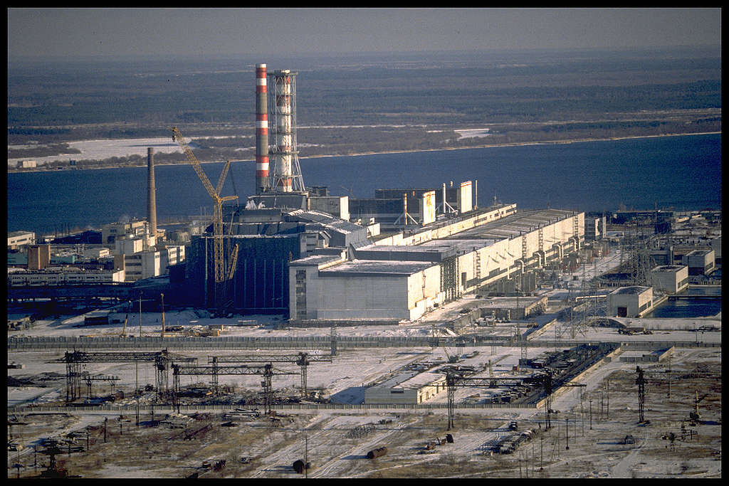 Chernobyl Nuclear Power Plant in Ukraine. © Clive Shirley / Signum / Greenpeace