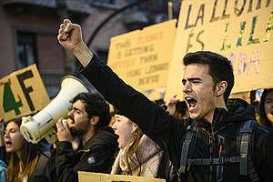Fridays for Future Student Demonstration in Girona. © Sandra Lazaro / Greenpeace
