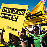 """Fridays for Future"" Demonstration near Open-Pit Coal Mine Garzweiler II. © Chris Grodotzki / Greenpeace"