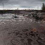 Oil Spill in Russia. © Greenpeace / Steve Morgan