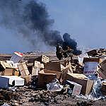 Melilla Garbage Dump and Incinerator, Spanish Morocco. © Greenpeace / Claire Mortimer