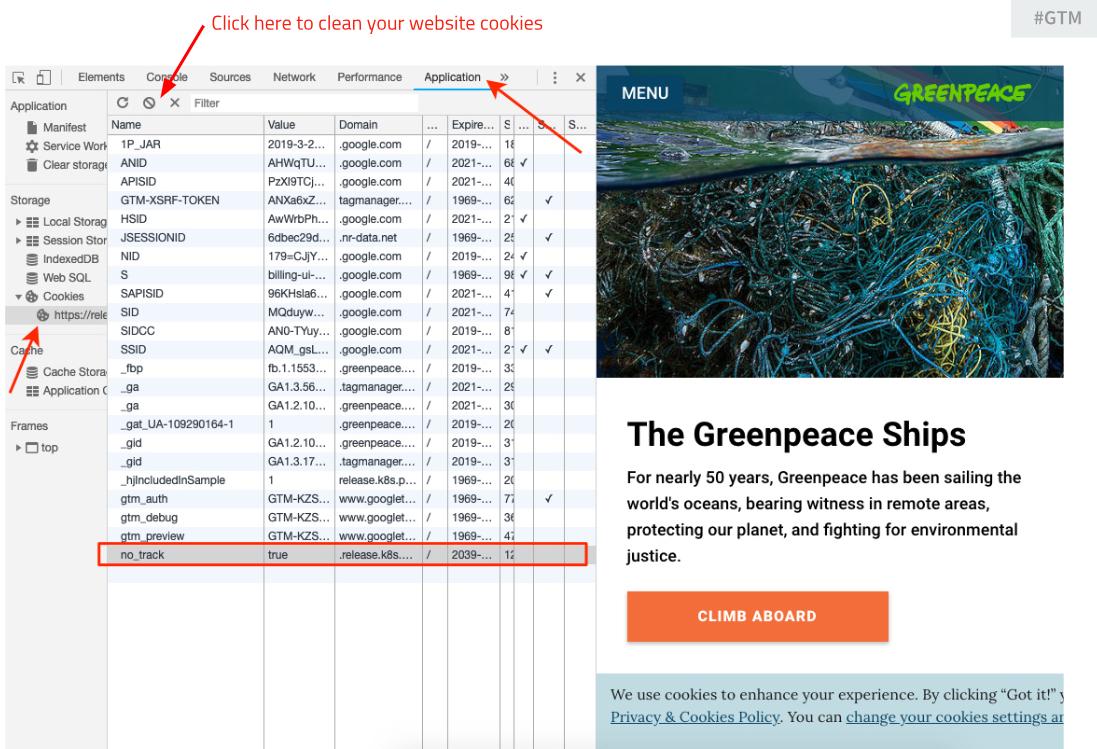 Block: Cookies - Greenpeace Planet4 Handbook