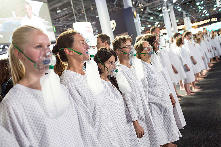 Performance for Clean Air at IAA in Frankfurt. © Maria Feck