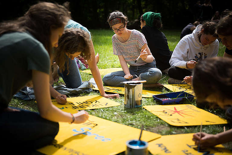 Greenpeace Youth Activists Group Camps in Berlin. © Ruben Neugebauer