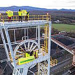 Action at Coal Mine in Nováky Slovakia.