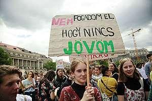 A II. Globális Klímatüntetés résztvevői, Budapesten