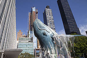 Ocean-Inspired Artwork at the United Nations in New York. © Greenpeace