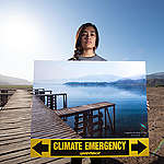 Climate Emergency Action at Laguna de Aculeo in Chile. © Martin Katz / Greenpeace