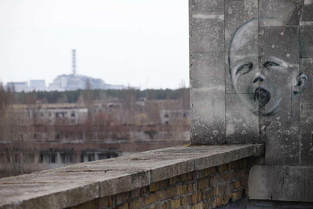 Ghost Town Pripyat near Chernobyl. © Vadim Kantor / Greenpeace