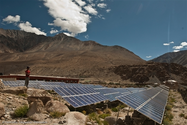 Solar panels in Tangtse