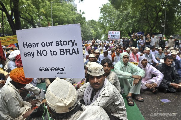 Citizens across 20 states of India came together at Jantar Mantar today for a day-long sit-in and marched towards the Parliament demanding immediate withdrawal of BRAI bill 2013.