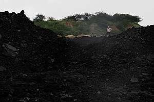 Coal Pile at Padmapur Mine in Chandrapur. © Dhiraj Singh