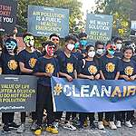 Flash-mob to create awareness about air pollution
