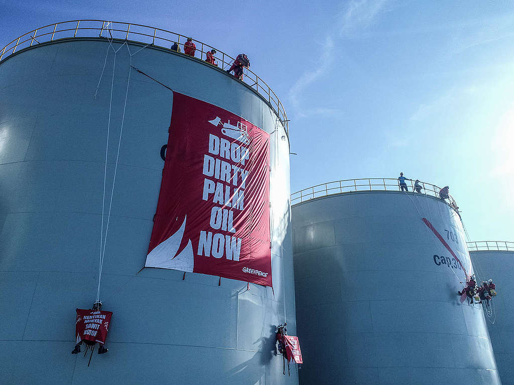 Direct Action at Wilmar Refinery in North Sulawesi. © Nugroho Adi Putera
