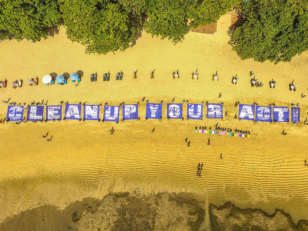 Break Free from Plastic Action in Bali (Drone). © Mokhammad Ikhsan Fariz
