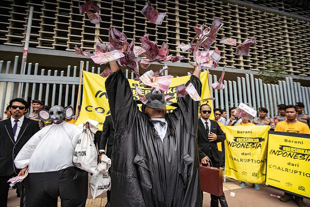 Coalruption Rally Presidential Candidates Action in Jakarta. © Jurnasyanto Sukarno
