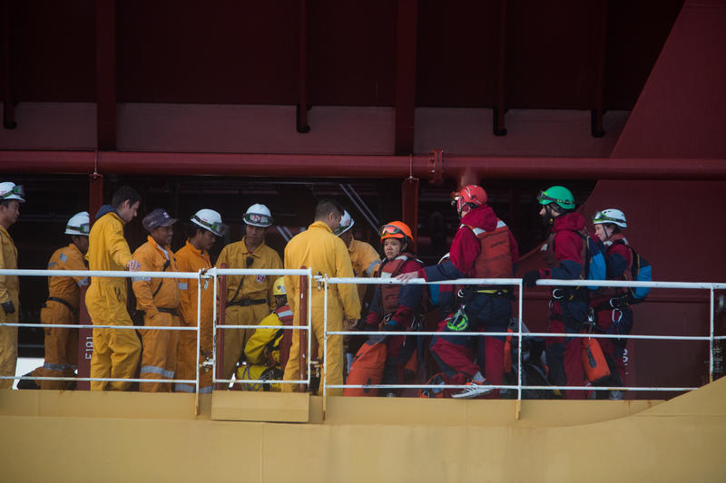 Action Against The Stolt Tenacity in the Mediterranean Sea © Jeremy Sutton-Hibbert/Greenpeace