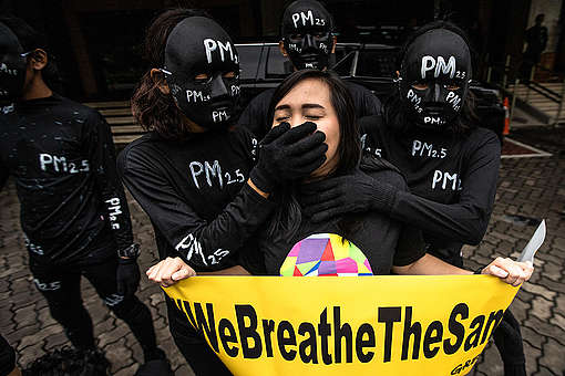 Air Pollution Protest in Jakarta. © Jurnasyanto Sukarno