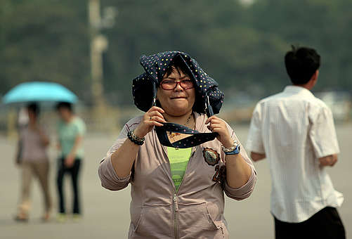 Heat Wave Documentation in China. © Greenpeace / Natalie Behring