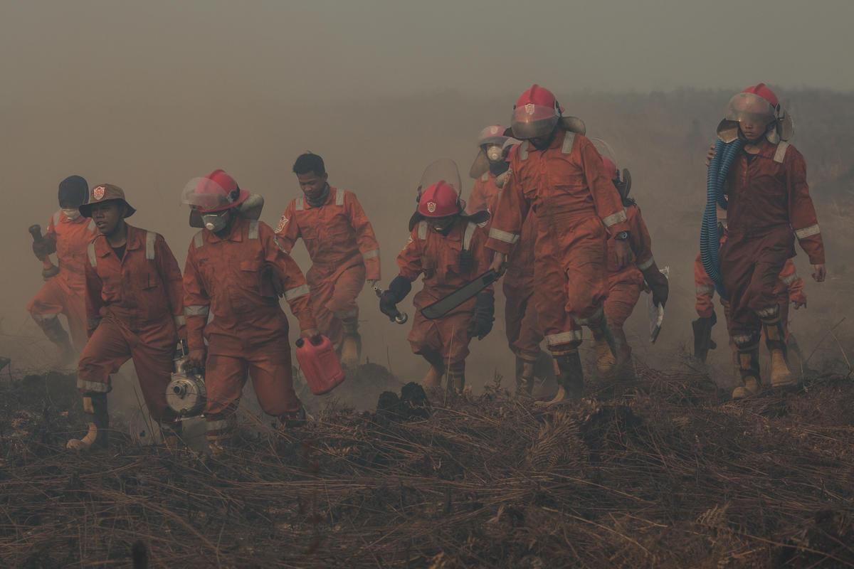 FFP Deployment in Kubu Raya, West Kalimantan. © Rendra Hernawan / Greenpeace