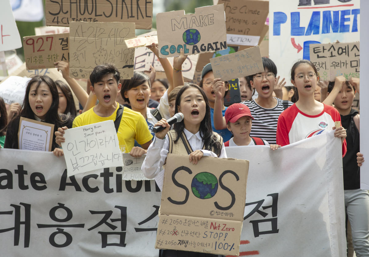 Youth Climate Strike in Seoul, S.Korea. © Soojung Do / Greenpeace