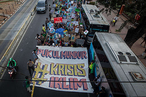 Global Climate Strike in Jakarta. © Afriadi Hikmal / Greenpeace