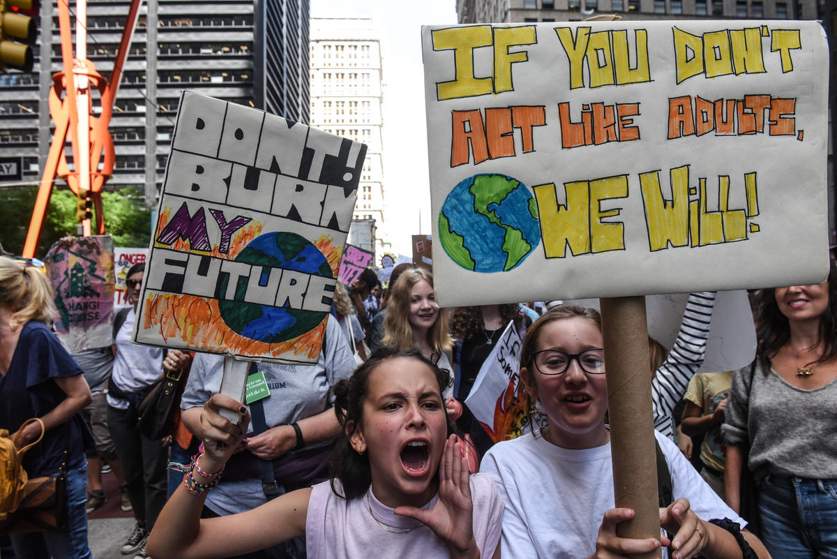 Global Climate Strike in New York. © Stephanie Keith / Greenpeace