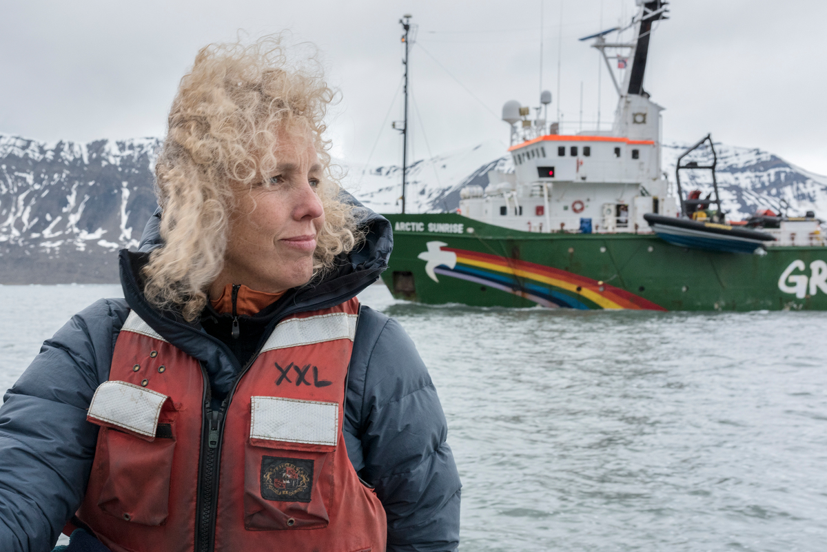 Greenpeace International Executive Director Jennifer Morgan in Svalbard © Christian Åslund / Greenpeace