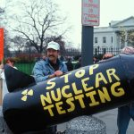 Nuclear Action at White House in DC © Greenpeace / Lee Corkran