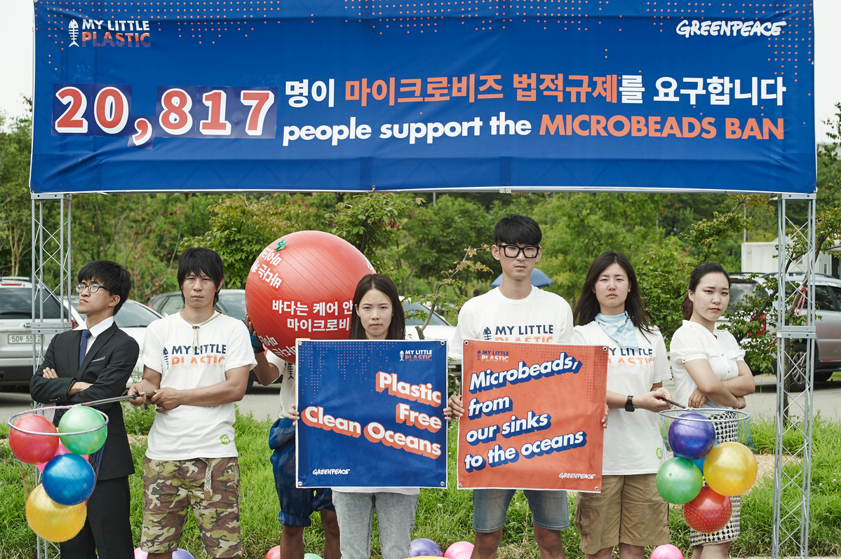 Microbeads Action on the Han River in Seoul © Jung-geun Park / Greenpeace