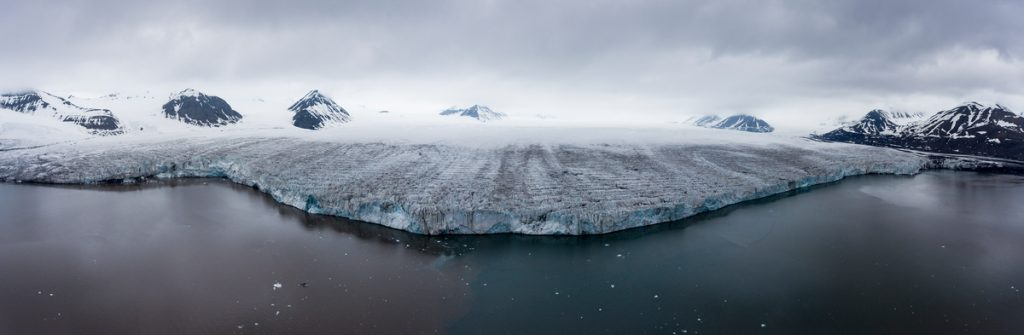 Borebreen Glacier in Svalbard