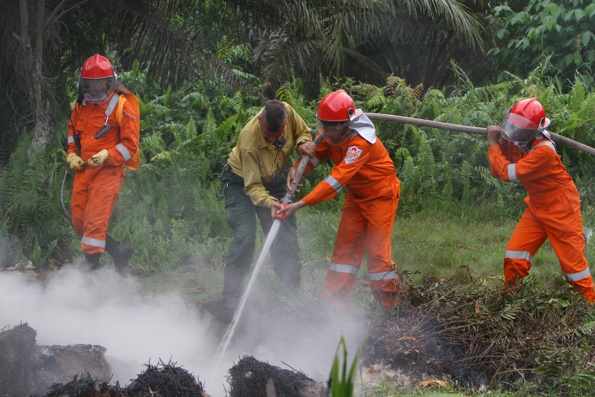 Greenpeace Forest Fire Prevention Training in Indonesia. © Afriadi Hikmal / Greenpeace